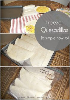 Quesadillas Freezer Quesadillas, perfect for an easy dinner any night of the week! Quesadillas, perfect for an easy dinner any night of the week! Freezer Desserts, Make Ahead Freezer Meals, Crock Pot Freezer, Freezer Recipes, Dump Meals, Easy Meals, Lunch Recipes, Yummy Recipes, Bulk Cooking