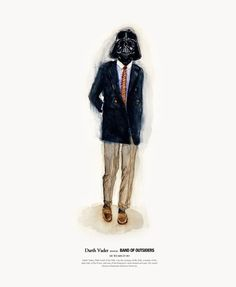 """Darth Vader wearing Band of Outsiders. Via """"Star Wars Characters as Style-Savvy Hipsters"""""""