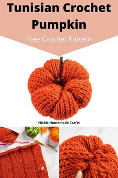 Learn how to crochet this easy Tunisian Crochet Pumpkin using this free pattern. It uses Tunisian Knit and Purl crochet stitches as well as worsted weight yarn and is perfect for the fall season for decor for Halloween and Thanksgiving. It can be made in any size you want. It's the perfect quick weekend project for sure. #crochet #pattern #crochetpattern #diy #freecrochetpattern #freepattern #worstedyarn #yarn #pumpkin #diyprojects #diyideas #halloween #crochetstitch #tutorial #giftideas…