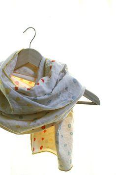 Polka dots scarf with doublegauze cotton by naniIRO by Namoo