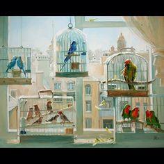 Петербургские мелодии #живопись #картина #художник #арт #петербург #музыка #art #myart #picture #paint #painting #love #music #life #birds #bird #peterburg #artist #mylove