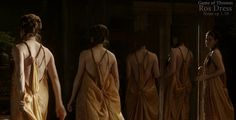 Game of Thrones: Ros Yellow dress. Inspiration picture