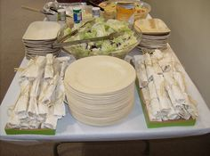 bamboo plates for wedding | ... Weddings and More: Disposable Dinner & Cake Plates Plates from