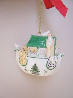 $29.97-$28.75 One of the reasons Spode Christmas Tree is so collectible is because of the diverse range of items available for the table and home, including this delightful series of annual ornaments.  This Spode Christmas Tree Signature Ornament is Noah's Ark.