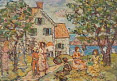 """Information about the print product Are you interested in a print reproduction of the original artwork? Here we show you to the painting called """"Beach and Two Houses"""" originally painted by the American artist Maurice Brazil Prendergast.   Structured product details          Article type: fine art reproduction   Reproduction method: digital reproduction   Production method: digital printing   Origin of the product: made in Germany   Type of stock: on demand production   Product use: wall decorat Oil Canvas, Canvas Paper, Canvas Prints, Pierre Auguste Renoir, Modern Artists, Great Artists, A4 Poster, Poster Prints, Barnes Foundation"""