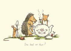 Anita Jeram, hedgehog, mice, tea