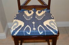 Cushion cover seat cushion cover kitchen by BrittaLeighDesigns.  Gorgeous IKAT print cushion covers will instantly update your home!