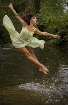 "Making Beauty. ""Jumping out of water is not as easy as it looks."" Great dance shot."