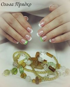 olga nail art schmuckngel french - French Ngel Muster