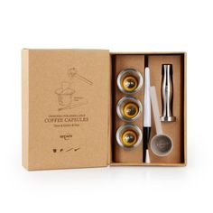 Recaps Stainless Steel Refillable Coffee Capsules Reusable Pods For Nespresso Machines Originalline Compatible Pod Coffee Makers, Coffee Pods, Coffee Cafe, Coffee Truck, Espresso Coffee, Coffee Drinks, Coffee Beans, Stainless Steel Material, Stainless Steel Case