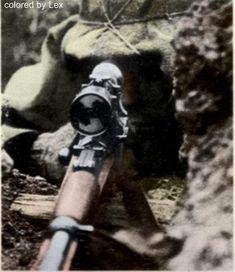 Nazi SS sniper & his 8mm K98.