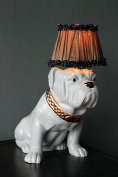 Abigail Ahern Lighting - Capone the Bulldog - table lamp Rocket St George, Abigail Ahern, Wall Lights, Ceiling Lights, Art Clipart, Paint Shop, Kitchen Art, Love Design, Cool Lighting