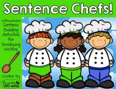 Sentence building and writing is a main ingredient in every primary classroom. Given the right recipe, your developing writers will be cooking up a sentence feast in no time! Add a dash or two of fun, and theyll be begging for the secret sentence recipe time and again throughout the school year.