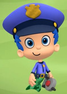 Help Gil find the perfect uniform for the police officer. Nick Jr, Bubble Guppies, Guppy, Police Officer, Bubbles, News, Life, Fictional Characters, Meet
