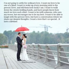 Lessons Learned in Life | I want a love that will last a lifetime.