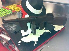 Chocolate tommy gun Cake by ChocolateEarth
