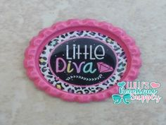 Little Diva Finished Bottle Cap