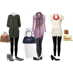 """""""Fashion Over 50 - How to Wear Leggings"""" by blackbeltoma on Polyvore"""