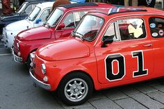 General Lee FIAT Fiat 500 Pop, Fiat 126, Dukes Of Hazard, General Lee, Movie Cars, Steyr, Vroom Vroom, Cool Cars, Badass