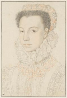 ELISABETH DE VALOIS queen of Spain PROVENANCE school of Clouet, prior to 1559, Louvre , PHOTO  RMN