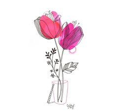 Doodle art 105130972537120076 - Source by karibusky Watercolor Drawing, Watercolor And Ink, Watercolor Illustration, Watercolor Flowers, Watercolor Paintings, Art Floral, Motif Floral, Art Carte, Plant Art