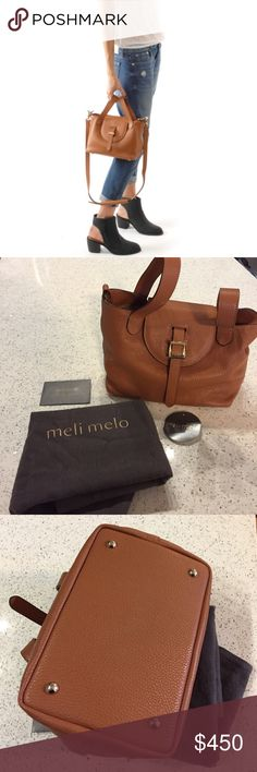 Meli melo Thela mini bag new with tags Brown meli melo bag. Comes with shoulder strap and dust bag. New with tags. Mini size. Never been used so perfect condition. Thela style. Recently sold out. meli melo Bags Mini Bags