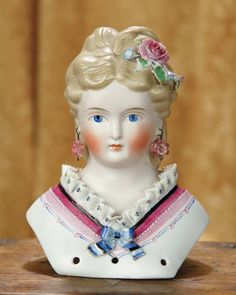 Very Beautiful German Bisque Lady with Elaborate Dresden Decorations 800/1200 | Art, Antiques & Collectibles Toys & Hobbies Dolls | Auctions Online | Proxibid
