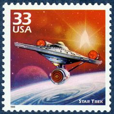 Unused Star Trek Stamp // Vintage Sci Fi Space TV Show // Trekkie Postage Stamp for Gift or Mailing Star Trek Tv, Star Trek Ships, Star Wars, Akira, Space Tv Shows, Small Picture Frames, Star Trek Episodes, Enterprise Ncc 1701, Star Trek Starships