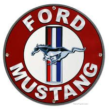 Decorate your garage, game room, man cave or business with vintage Ford signs, classic Ford Mustang signs and other Ford cars. Large selection of Ford signs of cars from the and along with the Ford emblem. Mustang Emblem, Ford Mustang Logo, Ford Mustang Shelby, Mustang Cars, Ford Mustangs, 2015 Mustang, Classic Mustang, Ford Classic Cars, Vintage Logos
