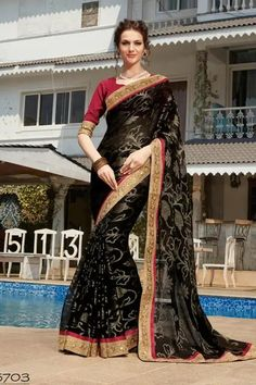 Bridle Dress, Sari, Women's Fashion, Beauty, Black, Dresses, Bride Groom Dress, Saree, Vestidos