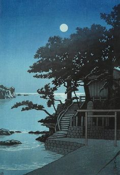 Hasui Kawase. \\ Memorial in Shimoda, 1937