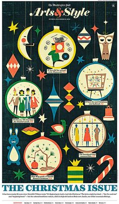 Arts & Style | The Christmas Issue #illustrations Pinterest News by @a_iki