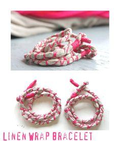 helana and ali: Wrap it up Thursday - Linen Wrap Bracelet inspired...