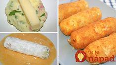 Vyprážaný syr už nerobím, toto je stokrát lepšie: Zemiakové tyčinky so syrom, cesnakom a kyslou smotanou – číslo 1 v našej rodine! Vegan Vegetarian, Paleo, Snack Recipes, Snacks, Weird Food, Budget Meals, Feta, Good Food, Food And Drink