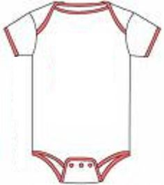 Onesie - I was asked for my onesie template I used.  I can't find it online again.  It was on some site for free printable invitations.  I found this one and I think it's nicer than the one I used!  It will also help with showing where the trim goes.