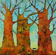 This wonderful painting is by Jane Filer, a North Carolina artist.