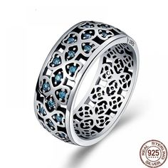 Woman 925 Sterling Silver Blue Zircon Rings $ 19.98 & FREE Shipping #jewelrynothers #jewelrydesign #jewelrylovers Silver Rings With Stones, Blue Rings, Cz Stones, Ring Ring, Solitaire Ring, Silver Necklaces, Sterling Silver Jewelry, Gold Jewelry, Silver Earrings
