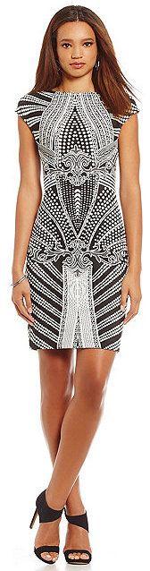 Julia Jordan Geometric-Print Sheath Dress