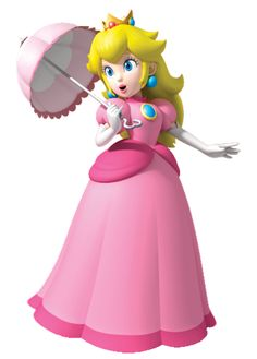 Peach's Parasol is what Princess Peach uses to defend herself and to glide in the air. In some games, it replaces and acts like her floating dress ability from Super Mario Bros. Peach has been using this parasol ever since she was a baby. Super Mario Bros, Super Mario World, Super Mario Brothers, Super Smash Bros, Princess Peach Cosplay, Mario Birthday Party, Mario Party, Birthday Ideas, Luigi And Daisy