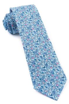 Floral Buzz Ties - Sky Blue | Ties, Bow Ties, and Pocket Squares | The Tie Bar