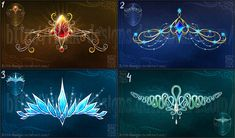 Magic diadems (set 3) by Rittik-Designs on DeviantArt