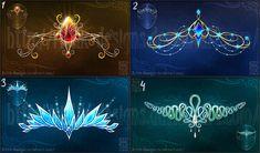 Magic diadems (set 3) by Rittik-Designs on DeviantArt