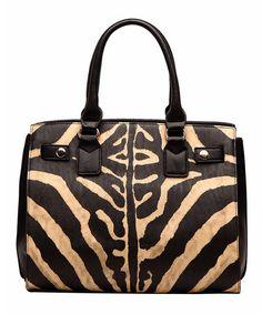 Another great find on #zulily! Tan Zebra Satchel #zulilyfinds