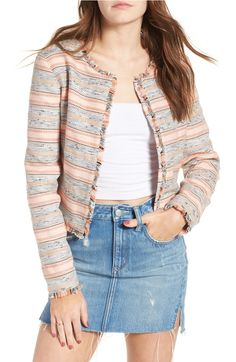 This colorful structured, lightweight jacket is the perfect addition for any polished or laid-back outfit
