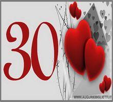 biglietto di auguri per i 30 anni