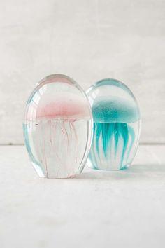 Méduses décoratives phosphorescentes en verre