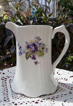 vintage pitcher w/violets.