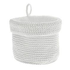 PENTIK - Juli Virkattu Kori, pieni Korn, Laundry Basket, Wicker, Decor, Decoration, Laundry Baskets, Decorating, Deco, Embellishments