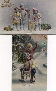 Barn i snön 2 charmiga Jul/Nyårskort 1910-20talet (369465617) ᐈ Köp på Tradera Color Splash, Postcards, Christmas Cards, Barn, Painting, Auction, Photo Illustration, Christmas E Cards, Converted Barn