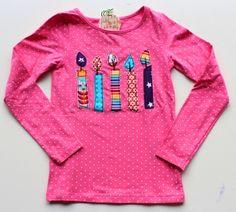 5! Geburtstags-Shirt 'Candles' von *hip hip hurra* auf DaWanda.com